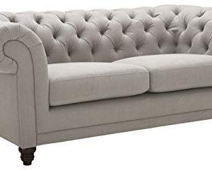 Stone Beam Bradbury Chesterfield Tufted Loveseat Sofa Couch 787W Slate 0 300x241