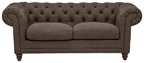 Stone Beam Bradbury Chesterfield Tufted Loveseat Sofa Couch 787W Warm Grey 0 0