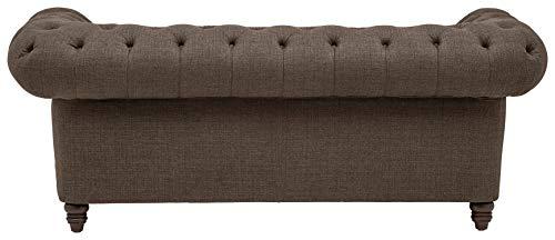 Stone Beam Bradbury Chesterfield Tufted Loveseat Sofa Couch 787W Warm Grey 0 1