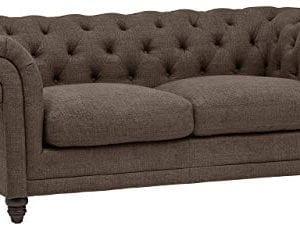 Stone Beam Bradbury Chesterfield Tufted Loveseat Sofa Couch 787W Warm Grey 0 300x230