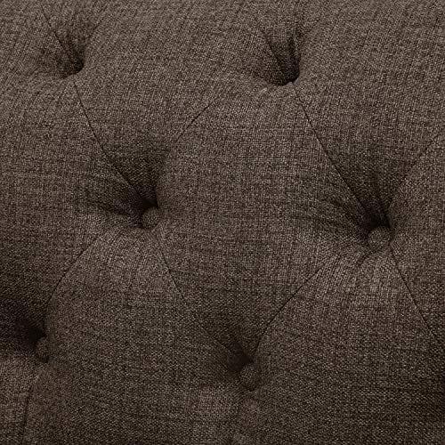 Stone Beam Bradbury Chesterfield Tufted Loveseat Sofa Couch 787W Warm Grey 0 4