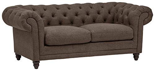 Stone Beam Bradbury Chesterfield Tufted Loveseat Sofa Couch 787W Warm Grey 0