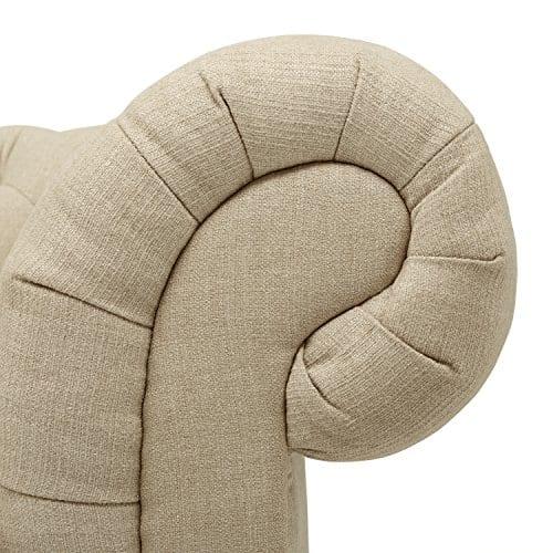 Stone Beam Bradbury Chesterfield Tufted Sofa Couch 929W Hemp 0 1
