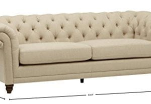 Stone Beam Bradbury Chesterfield Tufted Sofa Couch 929W Hemp 0 2 300x208