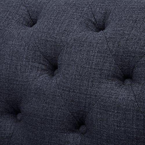 Stone Beam Bradbury Chesterfield Tufted Sofa Couch 929W Navy 0 1