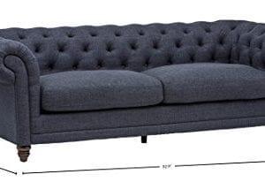 Stone Beam Bradbury Chesterfield Tufted Sofa Couch 929W Navy 0 2 300x206