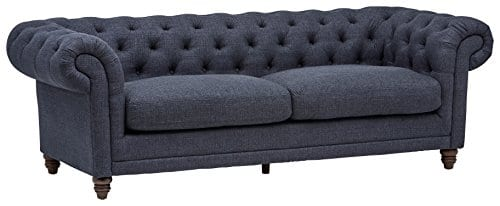 Stone Beam Bradbury Chesterfield Tufted Sofa Couch 929W Navy 0