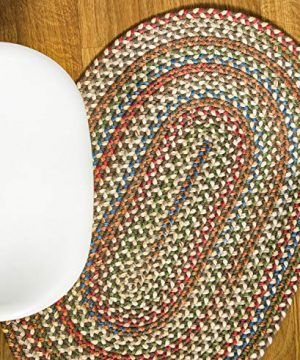 Super Area Rugs American Made Braided Rug For Indoor Outdoor Spaces Dk TaupeNatural Multi Colored 5 X 8 Oval 0 0 300x360