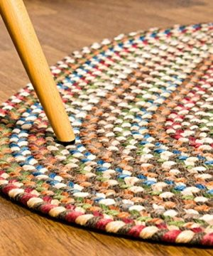 Super Area Rugs American Made Braided Rug For Indoor Outdoor Spaces Dk TaupeNatural Multi Colored 5 X 8 Oval 0 1 300x360
