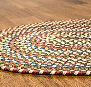 Super Area Rugs American Made Braided Rug For Indoor Outdoor Spaces Dk TaupeNatural Multi Colored 5 X 8 Oval 0 2 300x285