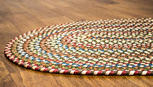 Super Area Rugs American Made Braided Rug For Indoor Outdoor Spaces Dk TaupeNatural Multi Colored 5 X 8 Oval 0 2