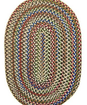 Super Area Rugs American Made Braided Rug For Indoor Outdoor Spaces Dk TaupeNatural Multi Colored 5 X 8 Oval 0 3 300x360