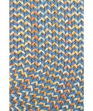 Super Area Rugs Confetti Braided Rug Traditional Rug Textured Durable Blue Casual Decor Carpet 3 X 5 Oval 0 0 300x360