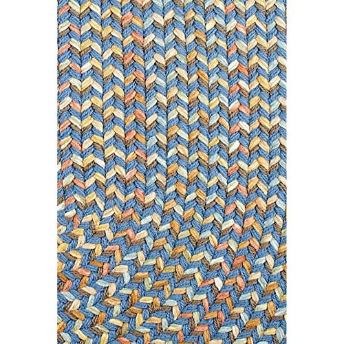Super Area Rugs Confetti Braided Rug Traditional Rug Textured Durable Blue Casual Decor Carpet 3 X 5 Oval 0 0