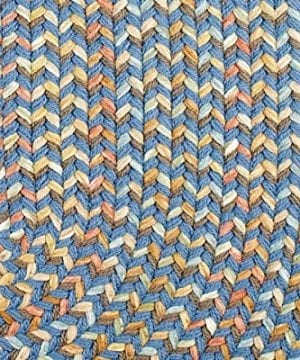 Super Area Rugs Confetti Braided Rug Traditional Rug Textured Durable Blue Casual Decor Carpet 3 X 5 Oval 0 3 300x360