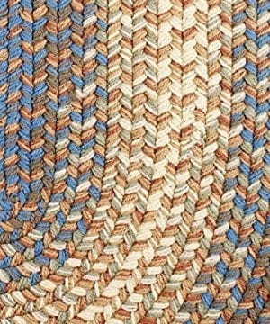 Super Area Rugs Hartford 4 X 6 Oval Braided Rug Blue Beige IndoorOutdoor Rug Primitive Washable Carpet 0 4 300x360