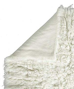 Super Area Rugs Organic Wool Flokati Rug White 8 X 10 Shag Carpet 0 2 300x360