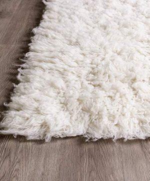 Super Area Rugs Organic Wool Flokati Rug White 8 X 10 Shag Carpet 0 3 300x360