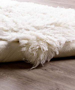 Super Area Rugs Organic Wool Flokati Rug White 8 X 10 Shag Carpet 0 5 300x360