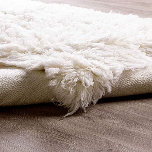 Super Area Rugs Organic Wool Flokati Rug White 8 X 10 Shag Carpet 0 5