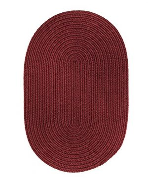 Super Area Rugs Pura Braided Wool Rug Extra Soft Reversible Wine Colored Carpet 5 X 8 Oval 0 300x360