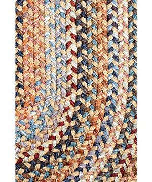 Super Area Rugs Tribeca Premium Wool Braided Rug Wheat Blue Mauve 5 X 8 Oval 0 0 300x360