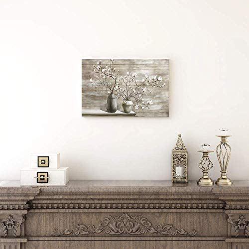 Takfot Farmhouse Wall Art Rustic Flower Pictures Canvas Paintings Home Decor Framed Prints Magnolia Floral Artwork Ready Farmhouse Goals