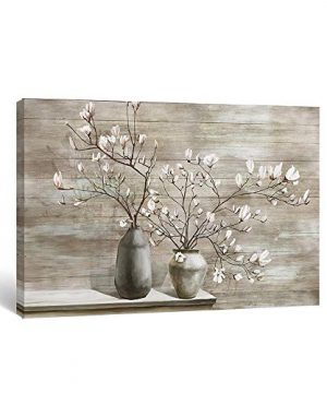 Takfot Farmhouse Wall Art Rustic Flower Pictures Canvas Paintings Home Decor Framed Prints Magnolia Floral Artwork Ready To Hang For Living Room Bedroom Bathroom 16x24 Inch 0 300x360