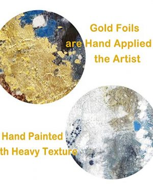 Textured Abstract Painting Wall Art Rustic Hand Painted Splash Inks Layers Canvas Picture Artwork For Office Wall 40 X 30 X 1 Panel 0 0 300x360