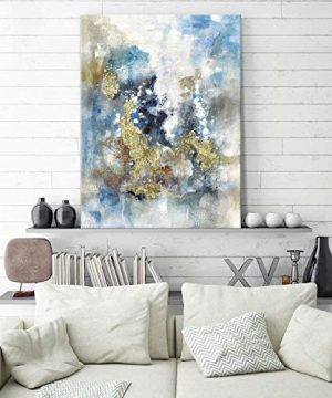 Textured Abstract Painting Wall Art Rustic Hand Painted Splash Inks Layers Canvas Picture Artwork For Office Wall 40 X 30 X 1 Panel 0 1 300x360