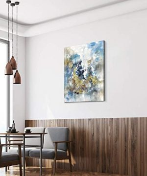 Textured Abstract Painting Wall Art Rustic Hand Painted Splash Inks Layers Canvas Picture Artwork For Office Wall 40 X 30 X 1 Panel 0 3 300x360