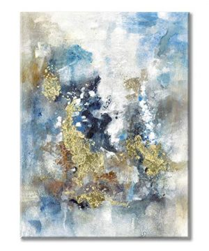 Textured Abstract Painting Wall Art Rustic Hand Painted Splash Inks Layers Canvas Picture Artwork For Office Wall 40 X 30 X 1 Panel 0 300x360