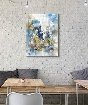 Textured Abstract Painting Wall Art Rustic Hand Painted Splash Inks Layers Canvas Picture Artwork For Office Wall 40 X 30 X 1 Panel 0 5 300x360