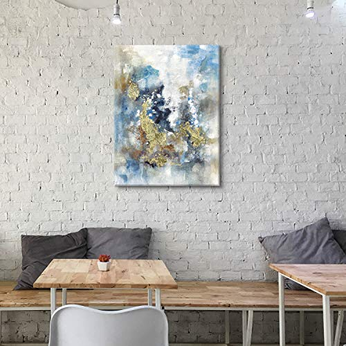 Textured Abstract Painting Wall Art Rustic Hand Painted Splash Inks Layers Canvas Picture Artwork For Office Wall 40 X 30 X 1 Panel 0 5