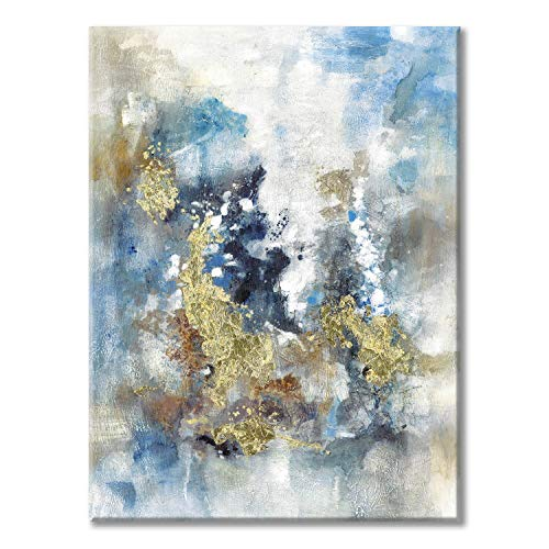 Textured Abstract Painting Wall Art Rustic Hand Painted Splash Inks Layers Canvas Picture Artwork For Office Wall 40 X 30 X 1 Panel 0