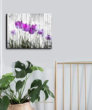 Tulip Wall Art For Bedroom Abstract Purple Flower Canvas Print 12x16Wall Art Painting For Living Room Wall Decor And Artwork Modern Home Decorations Framed Wall Art Photo Canvas Prints Ready To Hang 0 0 300x360