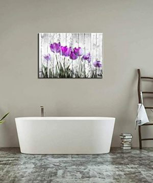 Tulip Wall Art For Bedroom Abstract Purple Flower Canvas Print 12x16Wall Art Painting For Living Room Wall Decor And Artwork Modern Home Decorations Framed Wall Art Photo Canvas Prints Ready To Hang 0 2 300x360