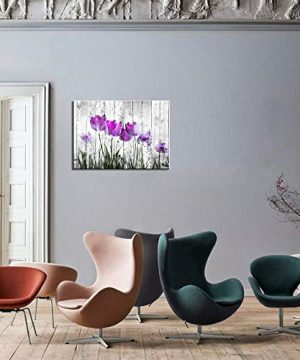 Tulip Wall Art For Bedroom Abstract Purple Flower Canvas Print 12x16Wall Art Painting For Living Room Wall Decor And Artwork Modern Home Decorations Framed Wall Art Photo Canvas Prints Ready To Hang 0 3 300x360