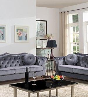 US Pride Furniture 2PC Grey 0 300x333