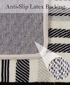 Uphome Orchard Plaid Area Rugs 3x5 Soft Velvet Distressted Throw Rugs Modern Geometric Checkered Accent Rug Shag Cozy Non Skid Collection Floor Carpet For Bedroom Living Room Nursery 0 4 300x360