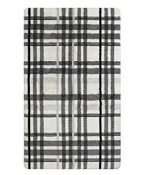 Uphome Orchard Plaid Area Rugs 4x6 Soft Velvet Large Distressted Throw Rugs Modern Geometric Checkered Accent Rug Shag Cozy Non Skid Collection Floor Carpet For Bedroom Living Room Nursery 0 0 300x360