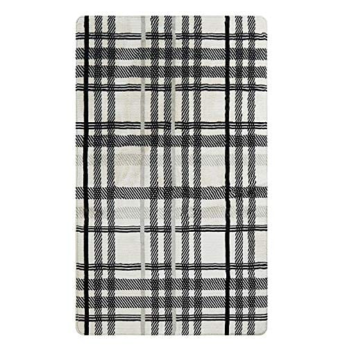 Uphome Orchard Plaid Area Rugs 4x6 Soft Velvet Large Distressted Throw Rugs Modern Geometric Checkered Accent Rug Shag Cozy Non Skid Collection Floor Carpet For Bedroom Living Room Nursery 0 0
