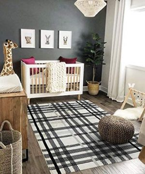 Uphome Orchard Plaid Area Rugs 4x6 Soft Velvet Large Distressted Throw Rugs Modern Geometric Checkered Accent Rug Shag Cozy Non Skid Collection Floor Carpet For Bedroom Living Room Nursery 0 2 300x360