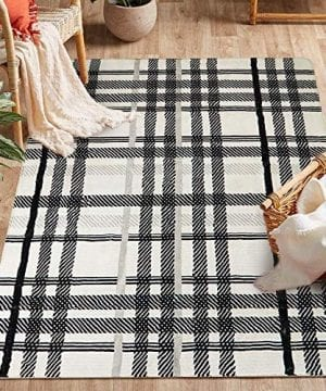 Uphome Orchard Plaid Area Rugs 4x6 Soft Velvet Large Distressted Throw Rugs Modern Geometric Checkered Accent Rug Shag Cozy Non Skid Collection Floor Carpet For Bedroom Living Room Nursery 0 300x360