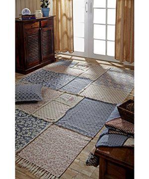 VHC Brands Farmhouse Flooring Millie White Patchwork Rug 5 X 8 0 0 300x360