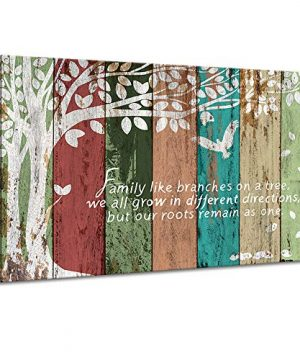 Vividhome Family Tree Canvas Wall Art Multicolor Tree Abstract Rustic Artwork Ready To Hang For Living Room Bedroom Home DecorationsWedding Anniversary Gifts 24x36 0 300x360