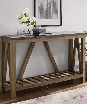 WE Furniture Modern Farmhouse Accent Entryway Table 52 Inch Grey Concrete 0 300x360