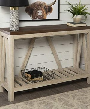 Walker Edison Furniture Company Modern Farmhouse Accent Entryway Table White Oak 0 300x360