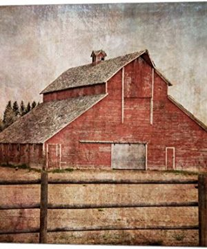 York Road Barn By Ramona Murdock Canvas Art Wall Picture Museum Wrapped With Nutmeg Sides 20 X 16 Inches 0 300x360