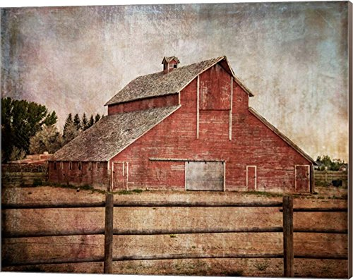 York Road Barn By Ramona Murdock Canvas Art Wall Picture Museum Wrapped With Nutmeg Sides 20 X 16 Inches 0